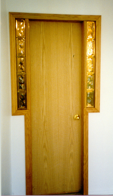4139 Interior Door With Glass Block Magnotta Builders And Remodelers