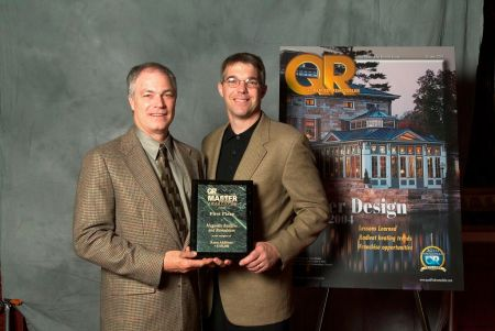 Jim Magnotta and David Frost recieve the QR Master Design Award